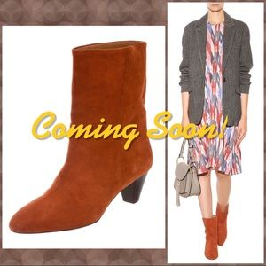 Isabel Marant Etoile Rust Dyna Suede Boots